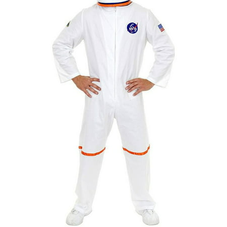 Adult Men's White NASA Astronaut Space Suit Costume - Space Age Costume