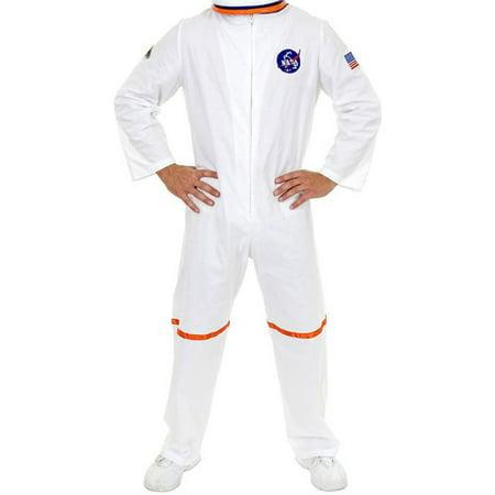 Adult Men's White NASA Astronaut Space Suit - Female Space Costume