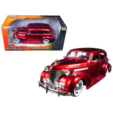 1939 Chevrolet Master Deluxe Red with baby Moon Wheels