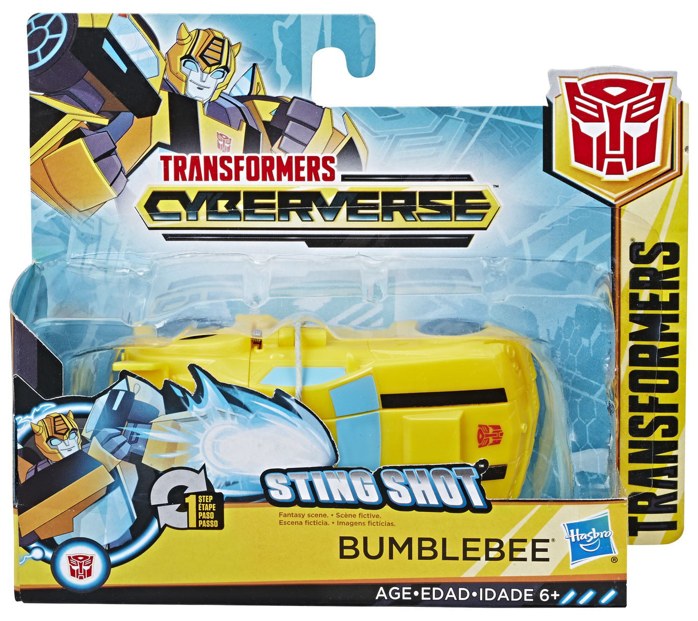 Transformers Cyberverse Action Attackers 1-Step Changer Bumblebee Action Figure