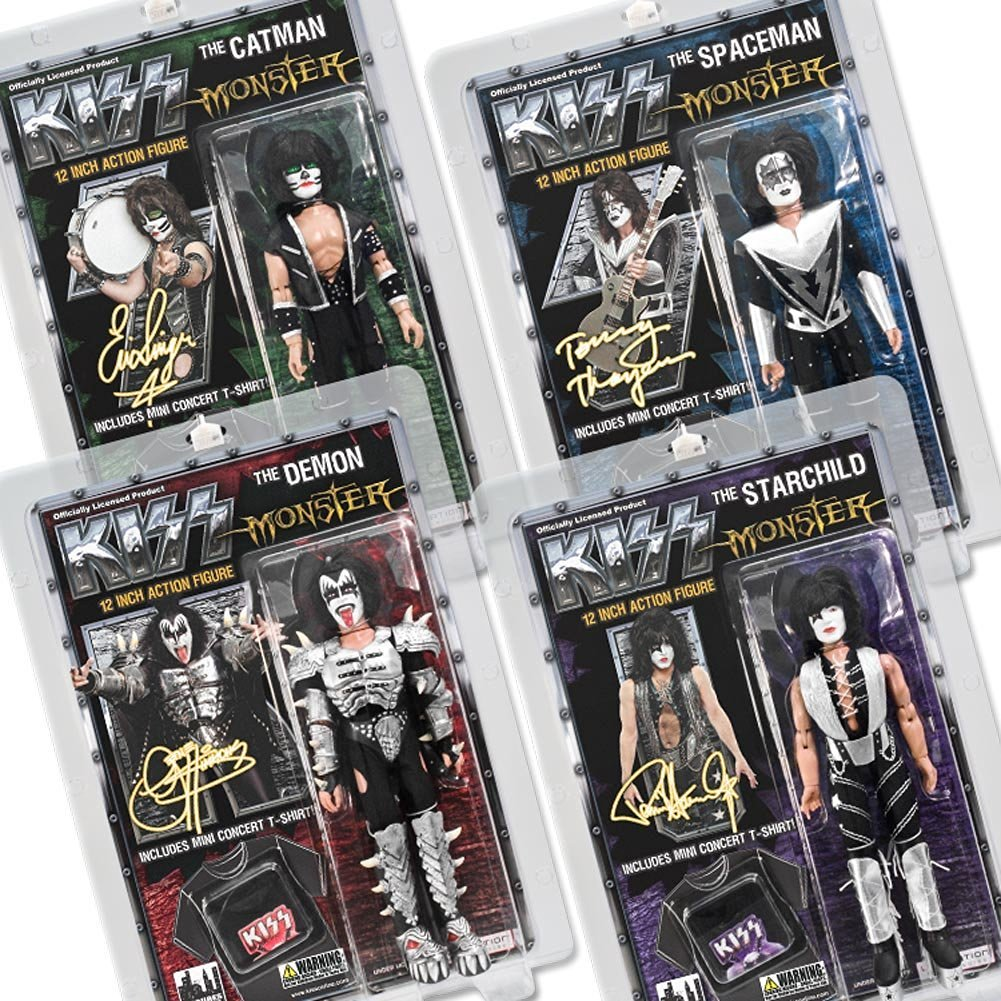 KISS 12 Inch Action Figures Series Four Monster: Set of all 4