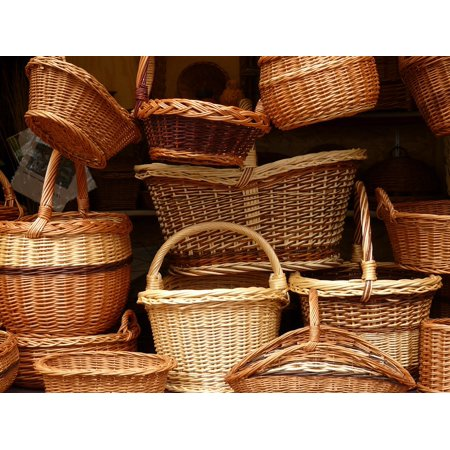 LAMINATED POSTER Wicker Weave Braided Material Baskets Craft Willow Poster Print 24 x 36