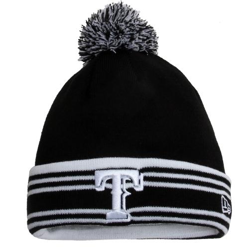 Texas Rangers New Era Sport Knit Hat Black White OSFA by NEW ERA CAP COMPANY