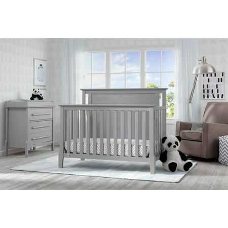 Serta Mid Century Modern Lifestyle 4 In 1 Convertible Crib Grey