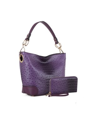 MKF Collection Wandy Soft Vegan Leather Hobo and Wallet Set by Mia K .