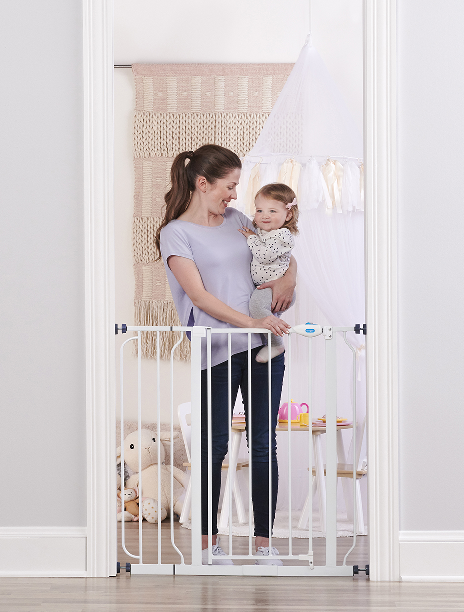 "Regalo Wide Baby Gate Extra with Walk Through Door Hardware Mounted 29/""-40/"""