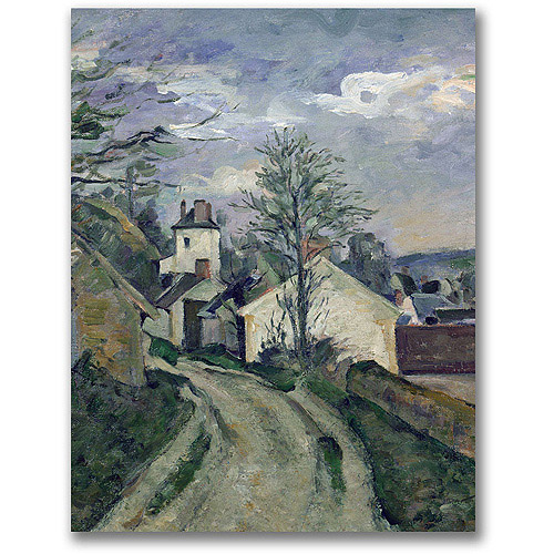 "Trademark Fine Art ""The House of Doctor Gachet"" Canvas Art by Paul Cezanne"
