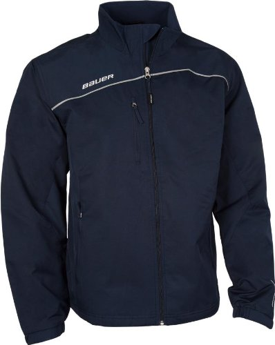 Bauer Lightweight Youth Hockey Warm Up Jacket Navy X-Small by