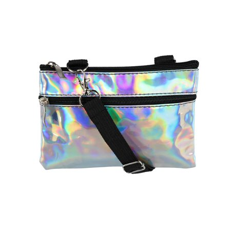 - Iridescent Fashion Convertible Waist Pack Cross Body Bag