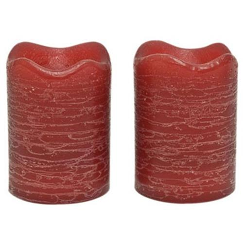 Inglow Flameless Rustic Votive Candles, Pomegranate, Set of 12