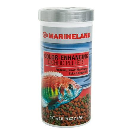 Cichlid Fish - Marineland Color-Enhancing Cichlid Fish Food Pellets, 5.19 oz