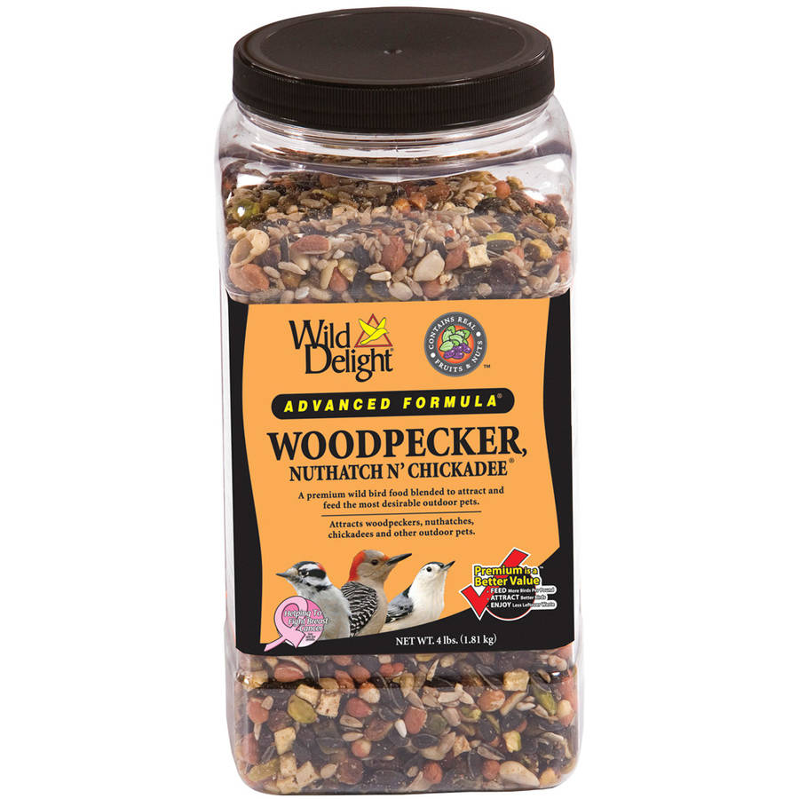 Wild Delight 364440 4 Lb Jar Woodpecker, Nuthatch N' Chickadee Food