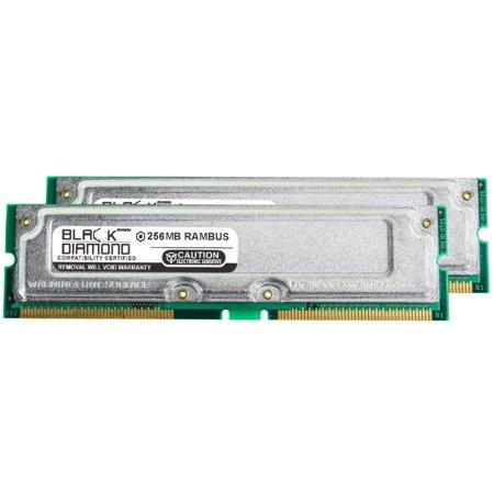 512MB 2X256MB RAM Memory for Intel D Series D850EMV2, D850EMV2L Rambus RDRAM RIMM 184pin PC800 40ns 800MHz Black Diamond Memory Module Upgrade