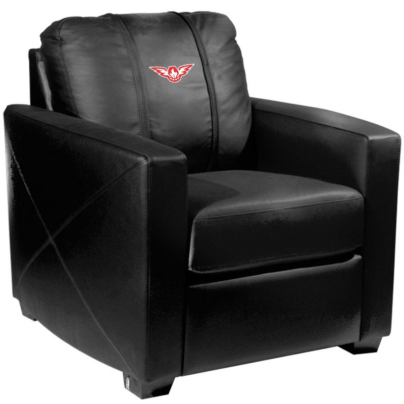 Atlanta Hawks NBA Silver Chair with Secondary Logo Panel
