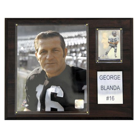 C&I Collectables NFL 12x15 George Blanda Oakland Raiders Player Plaque