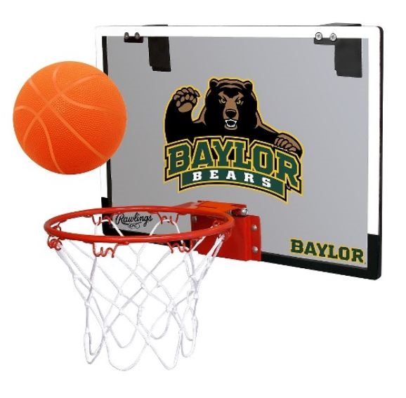 Baylor University Bears Indoor Basketball Goal Hoop Set Game