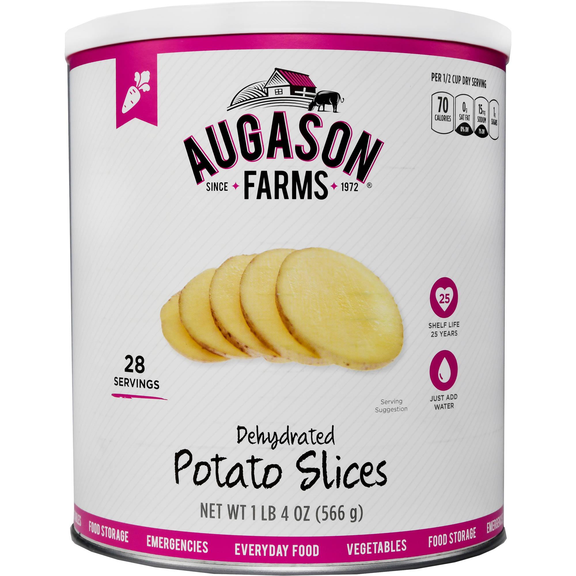 Augason Farms Emergency Food Dehydrated Potato Slices, 20 oz