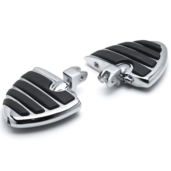 Krator Stiletto Motorcycle Foot Pegs Footrests Left+Right For Yamaha V-Star 650 1998-2013 Front