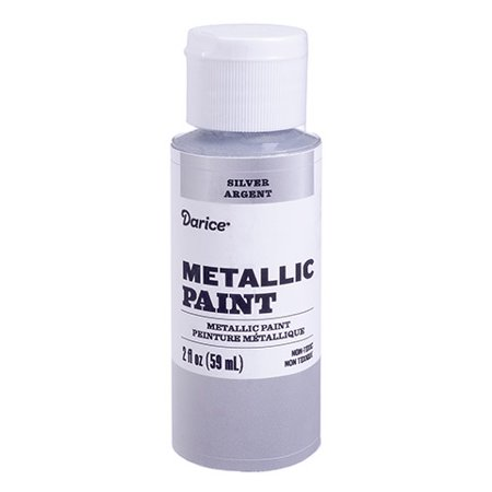 Add shimmer to your art project with this silver metallic acrylic paint. The flip-top bottle prevents the paint from drying out. - Halloween Paint Art Projects