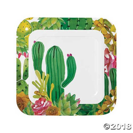 Cactus Party Paper Dinner - Cactus Dinner