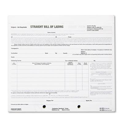 Rediform Snap-A-Way Bill of Lading, Short