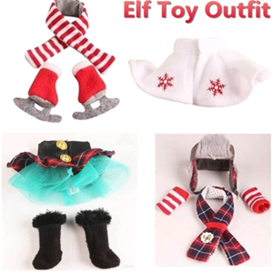 Christmas Elves Clothes Suit For Elf On The Shelf Scarf And Clothing Set Elf Doll Skirts And Boots Clothes