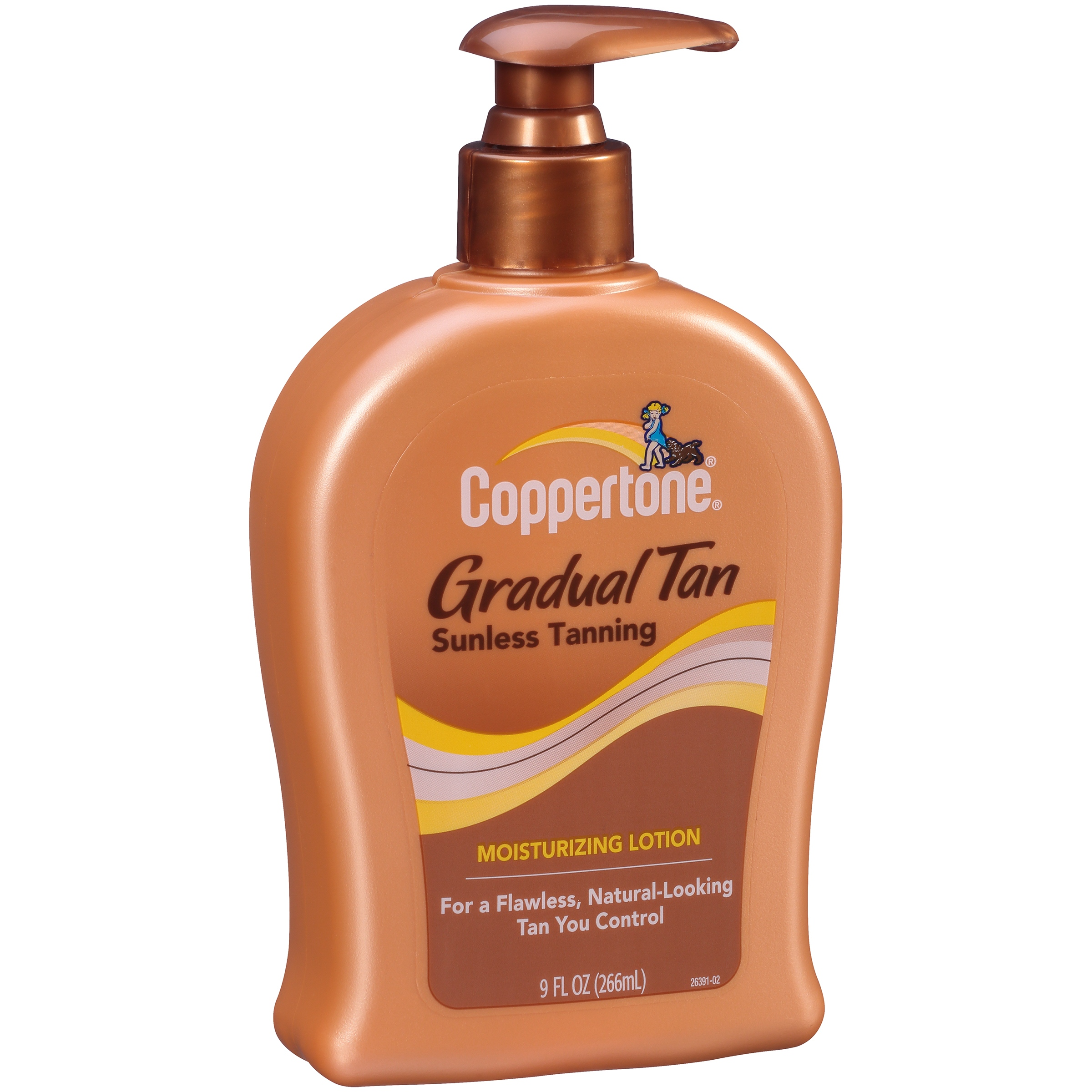Coppertone Gradual Tan Sunless Tanning Moisturizing Lotion, 9 fl oz