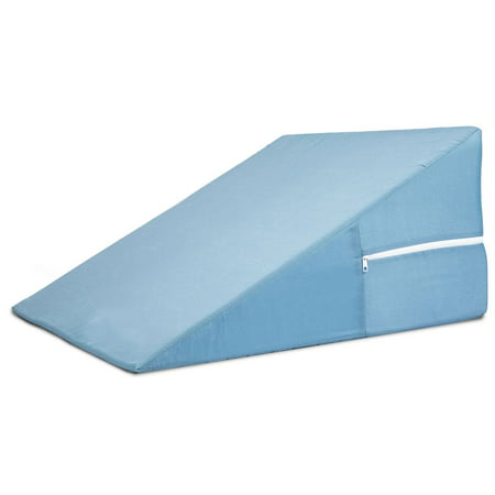 "DMI Bed Wedge Pillow for Sleeping, Supportive Foam Triangle Pillow for Head, Foot, or Leg Elevation, Sleeping Wedge Pillow for Acid Reflux, 12"" x 24"" x 24, Blue"