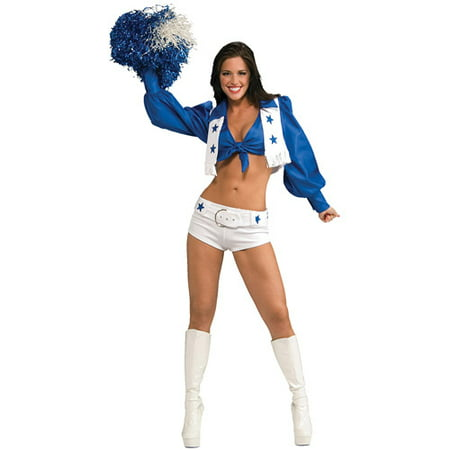 Dallas Cowboy Cheerleader Deluxe Adult Halloween Costume (Adult Cheerleader Halloween Costumes)