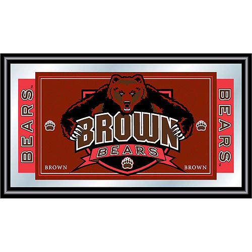 Brown University Logo and Mascot Framed Mirror