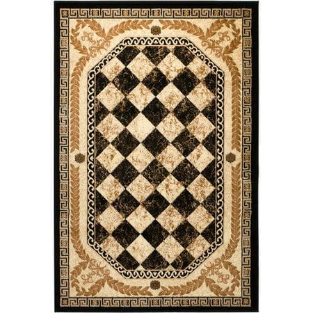 rug and decor inc summit black area rug. Black Bedroom Furniture Sets. Home Design Ideas