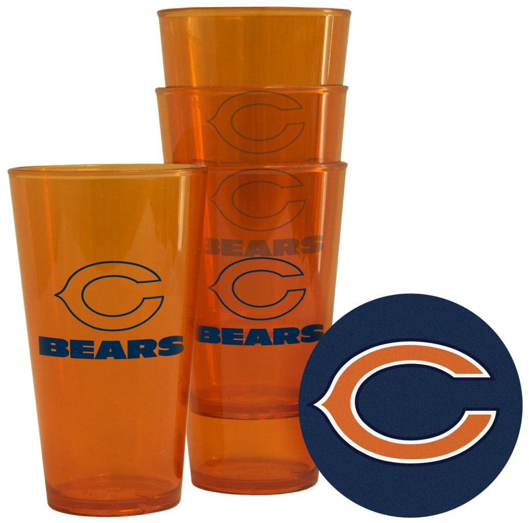 Chicago Bears Plastic Pint Glass Set by Boelter Brands