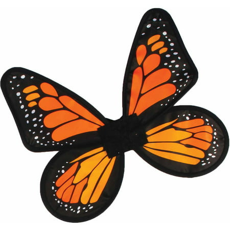 Satin Butterfly Wings Child Halloween Accessory - Butterfly With Angel Wings