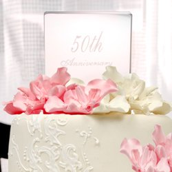 50th Wedding Anniversary Cake Topper, By Concepts Group - 50th Anniversary Cake