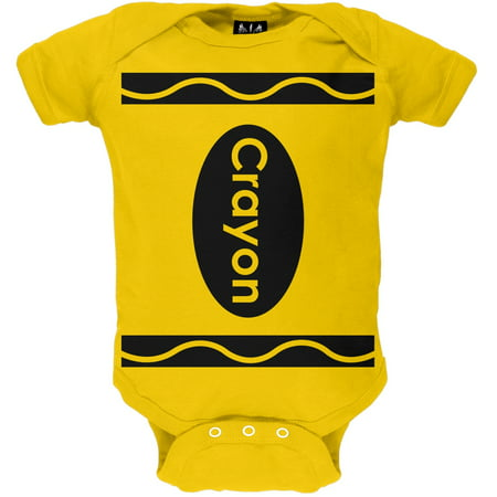 Halloween Yellow Crayon Costume Baby One Piece