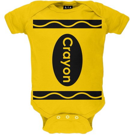 Halloween Yellow Crayon Costume Baby One Piece](Halloween Costume Baby On Grandma's Back)