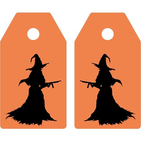 Canvas Print Feast Witch Tag Ticket Greeting Map Halloween Stretched Canvas 32 x 24
