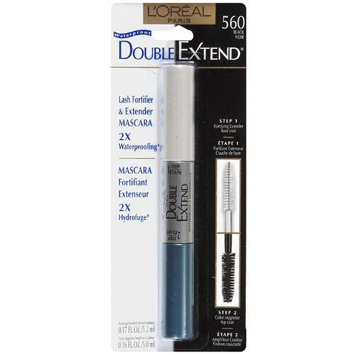 L'Oreal Paris Double Extend Waterproof Mascara, Black