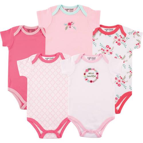 Baby Girl Bodysuits, 5-Pack