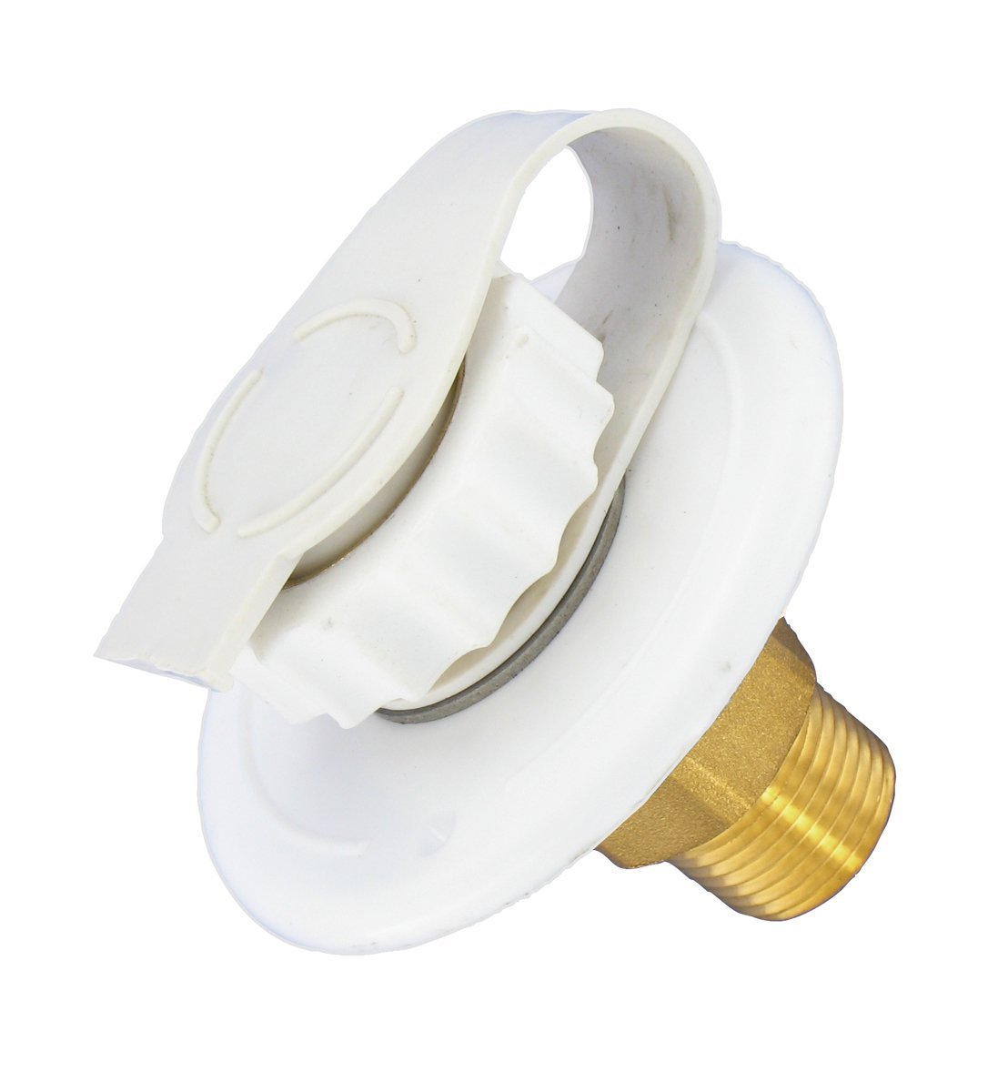 "A01-0170LF White 2-3/4"" MPT Lead-Free Flush Mount Water Inlet, Water R920TW Fresh Fill LLC RV Inchmtl 27 A010170LF Mount True A010171LF FPT Inlet Trailer BulkLf MPT.., By Valterra"