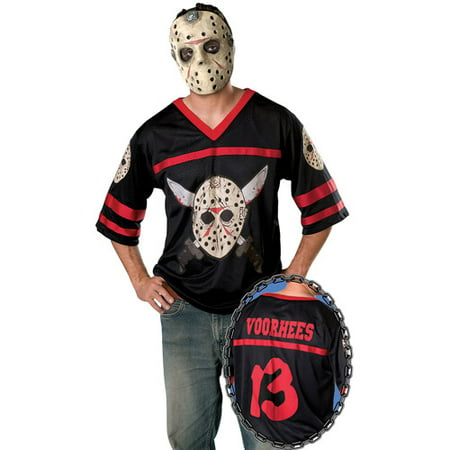 Halloween Adult Jason Mask With Jersey - Jason Holloween