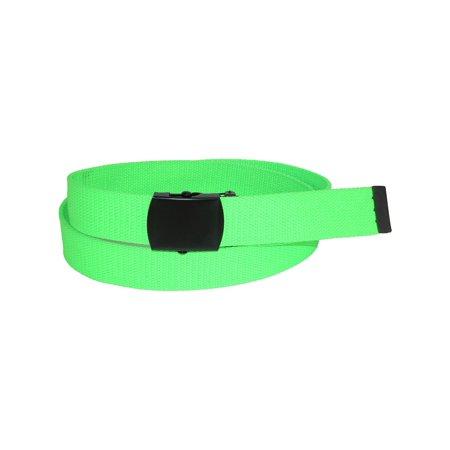 Adjustable Neon Fabric Web Belt