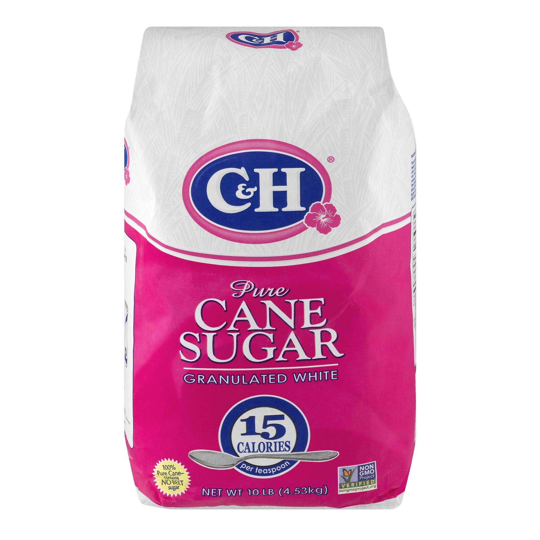 C & H Pure Granulated White Cane Sugar, 10 lb