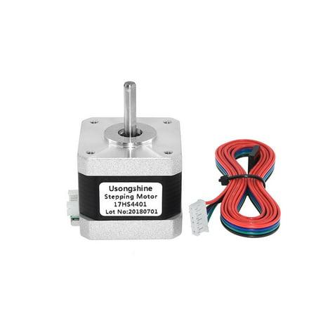 Nema 17 Stepper Motor 42 Motor 4-lead 17HS4401 NEMA17 42BYGH 1.5A Gear Motor with DuPont Line for 3D Printer&CNC - image 1 of 6