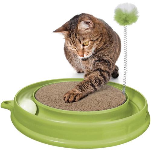 Catit Play n Scratch Toy, Green