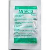 Medi-First 80233 Chewable Mint Antacid Tablets, 50-Packets of