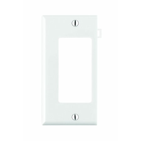 PSE26-W 1-Gang Decora/GFCI Device Wallplate, Sectional, Thermoplastic Nylon, Device Mount, End Panel, White, Accent any wall covering with a wide selection.., By Leviton