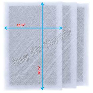 - Dynamic Air Cleaner Replacement Filter Pads 17x23 Refills (3 Pack)
