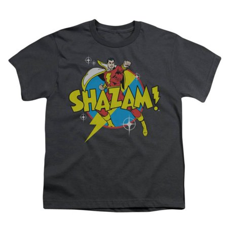 Youth: DC Comics - Shazam! - Power Bolt Apparel Kids T-Shirt - Grey](Dc Comics Kids)