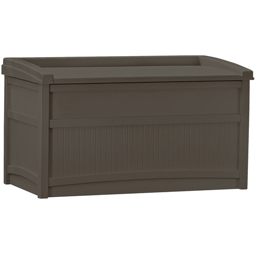Suncast 50 Gallon Java Resin Storage Seat Deck Box DB5500J by Suncast